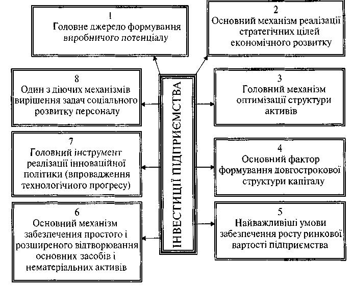 Роль інвестицій в забезпеченні ефективного функціонування підприємства